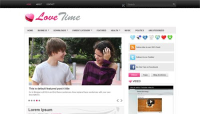 love time blogger template
